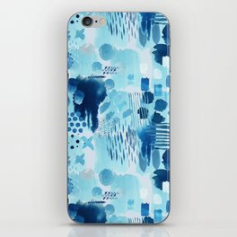 Study in blue, watercolor iPhone Skin