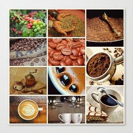 Coffee Espresso Collage - Cafe or Kitchen Decor Canvas Print