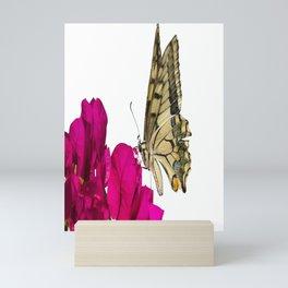 Swallowtail Butterfly On Bougainvillea Mini Art Print