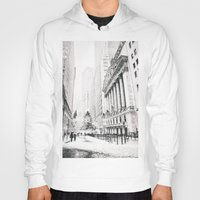 new york city Hoodies featuring New York City Christmas by Vivienne Gucwa
