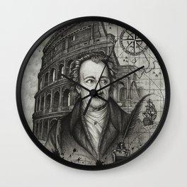 Goethe in Italy Wall Clock