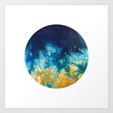Abstract planet Art Print