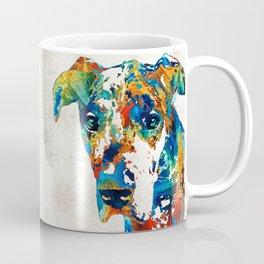 Colorful Great Dane Art Dog By Sharon Cummings Coffee Mug