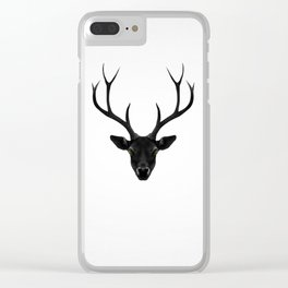 The Black Deer Clear iPhone Case