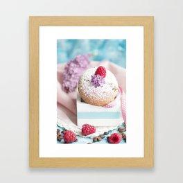 Pink pastel colored muffin stilllfeben Framed Art Print