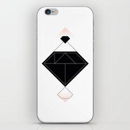 Tangram Diamond Linework Black iPhone Skin