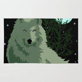 Wolf Vector Animals Rug