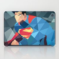 dc comics iPad Cases featuring DC Comics Man of Steel by Eric Dufresne