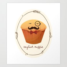 English Muffin Art Print
