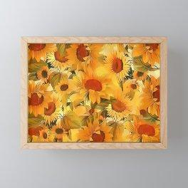 Sunshine Floral Abstract Framed Mini Art Print