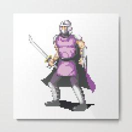 Pixelated Teenage Mutant Ninja Turtles (TMNT) - Shredder Metal Print