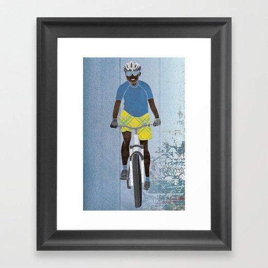 Bicycle girl 1 Framed Art Print