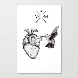 Humming Heart Canvas Print