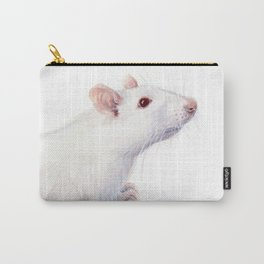 White Rat Watercolor Albino Rat Animal Carry-All Pouch