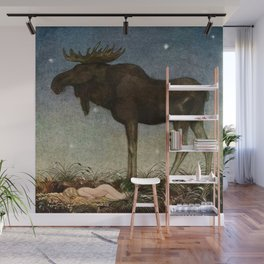 """""""Leap Finds the Princess"""" by John Bauer Wall Mural"""