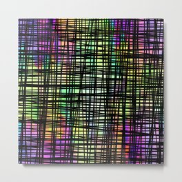 Colorful striped DP035-6 Metal Print