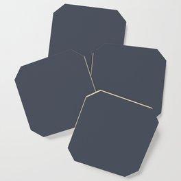 Dark Slate Navy Blue Gray Solid Color Pairs to Benjamin Moore's Hale Navy HC-154 Coaster
