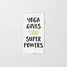 YOGA GIVES YOU SUPERPOWERS Hand & Bath Towel