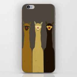 Triple LLAMAS ALPACAS CAMELS - Dark iPhone Skin