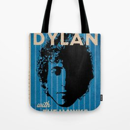 Vintage 1966 Bob Dylan and The Hawks Royal Albert Hall Concert Poster Tote Bag