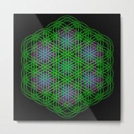 Trippin Circles Metal Print