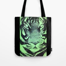 Be A Tiger (Green) Tote Bag