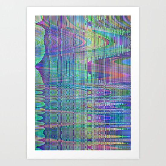 random blue abstract Art Print