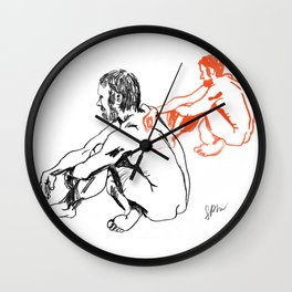 Duality of Man Wall Clock