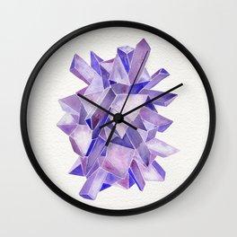 Amethyst Watercolor Wall Clock
