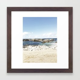 monterey california shore part one Framed Art Print