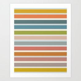 60s Vibe #25 Stripes Art Print