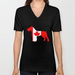 """Schnauzer """"Canada"""" Unisex V-Neck"""