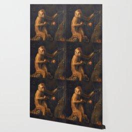 George Stubbs - A Monkey Wallpaper