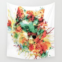 valentina Wall Tapestries featuring FOX IV by RIZA PEKER