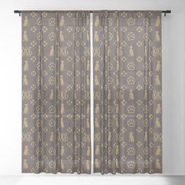 Weimaraner Love Sheer Curtain