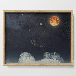 Venus and Moon Night Serving Tray