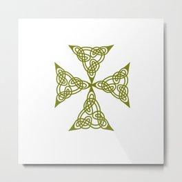 Lindisfarne St Johns Knot Grunge Metal Print