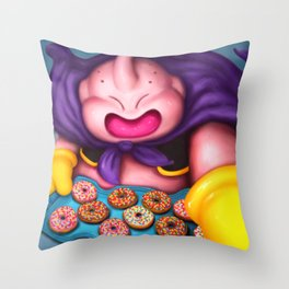 Buu - Social Monsters #01 Throw Pillow