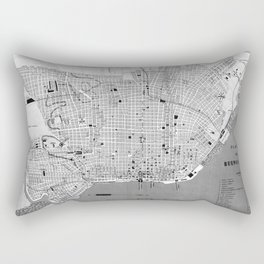Vintage Map of Buenos Aires Argentina (1888) Rectangular Pillow