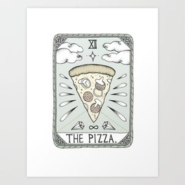 The Pizza Art Print