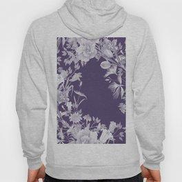 Stardust Violet Indigo Floral Motif Hoody