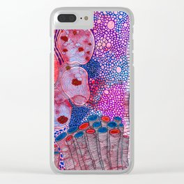 Bacterial world Clear iPhone Case