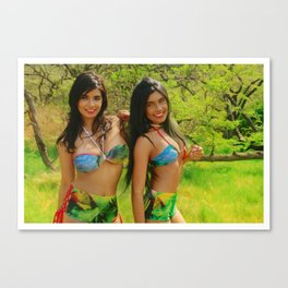 [ BIODIVERSE.CO ] Colombian Exotic Sexy Girls Canvas Print