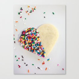 """Sprinkle Heart Cookie"" by Simple Stylings Canvas Print"