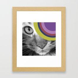 Pshycedelic Cat Framed Art Print