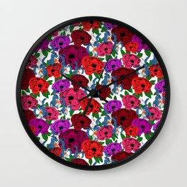 Rosor och Iris Wall Clock