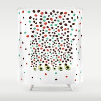 avocado Shower Curtains featuring avocado by singingsaw