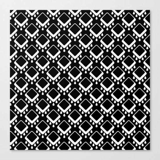 Abstract colorful geometric pattern . Black white . Canvas Print