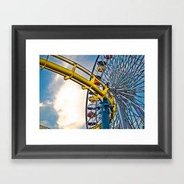 Bright Ferris Wheel Framed Art Print