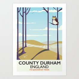 County Durham,England vintage travel poster Art Print